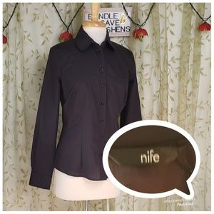 NEW NIFE BLACK BUSINESS CASUAL BUTTON UP SHIRT